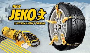 New Jeko, si attacca a neve e ghiaccio.